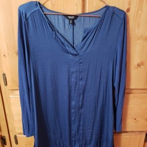 Simply Vera Blue Rayon High Low Blouse